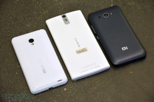Oppo Find 5 vs Xiaomi Mi-Two vs Meizu MX2