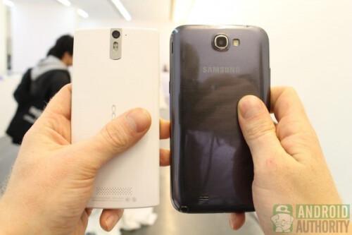 Oppo Find 5 vs Galaxy Note II