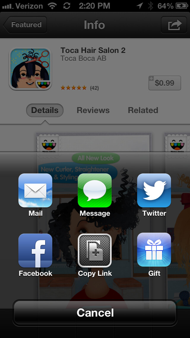 Gifting apps returns to iOS 6 App Store