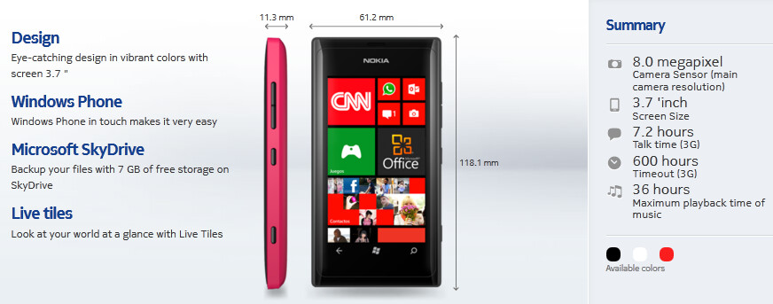 The Nokia Lumia 505 comes with Windows Phone 7.8 out of the box - Entry-level Nokia Lumia 505 now official, features Windows Phone 7.8 right out of the box