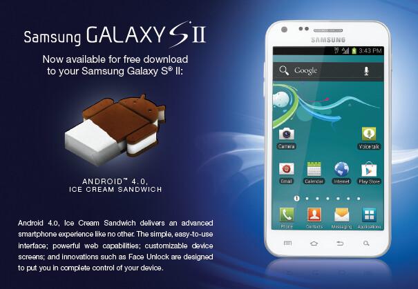 U.S. Cellular's Samsung Galaxy S II gets Ice Cream ...