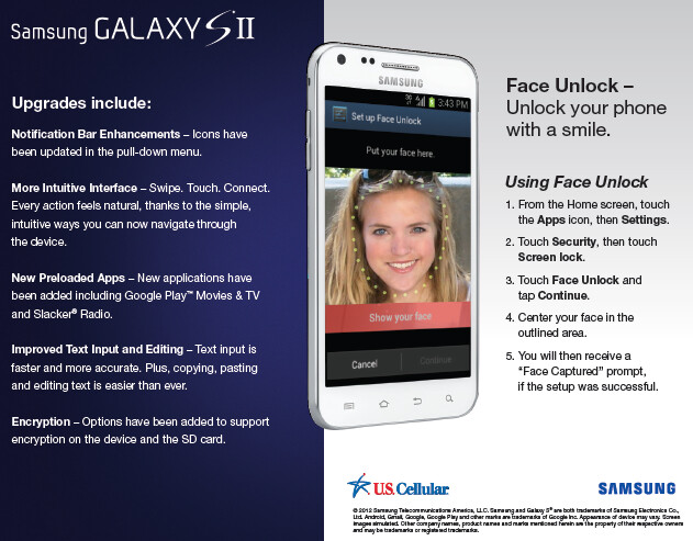 The U.S.Cellular version of the Samsung Galaxy S II is getting Android 4.0.4 - U.S. Cellular's Samsung Galaxy S II gets Ice Cream Sandwich update