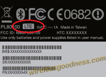 FCC label for the HTC One SV shows itis an LTE device
