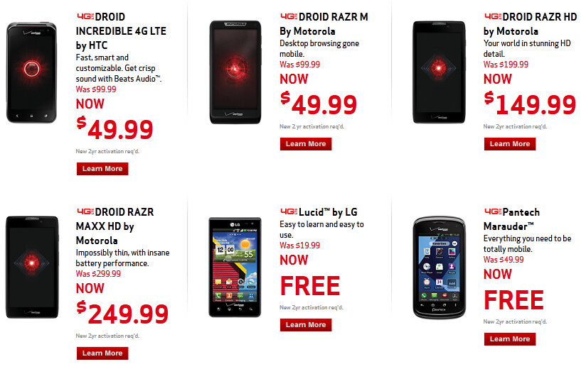 Holiday sales at Verizon - Holiday deals from Verizon include discounts to the latest Motorola DROID RAZR models
