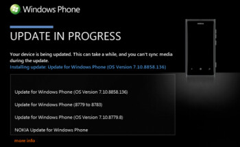Windows Phone 7.8 has arrived for the Nokia Lumia 800 via Zune