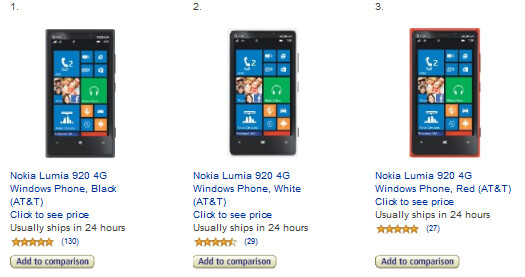 Amazon has a deal on the AT&T Nokia Lumia 920 - Two deals from Amazon: 1 cent Sprint Samsung Galaxy S III and $39 AT&T Nokia Lumia 920