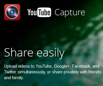 Capture makes uploading videos a snap