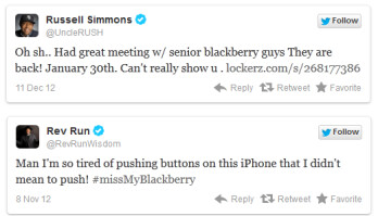 Tweets from mogul Russell Simmons and his famous brother