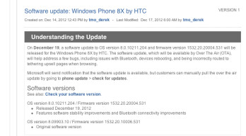 Portico Windows Phone update to hit T-Mobile HTC 8X tomorrow