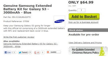 You can pre-order an extended cell for your Samsung Galaxy S III in the U.K.