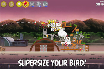 Update to Angry Birds Rio lets you super-size your Birds