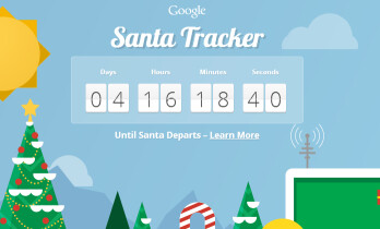 The Google Santa Tracker countdown clock on the web site