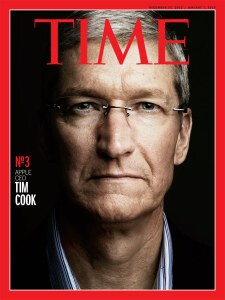 Time made a cover for its 2nd runner up, Tim Cook