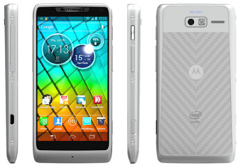 The white Motorola RAZR i