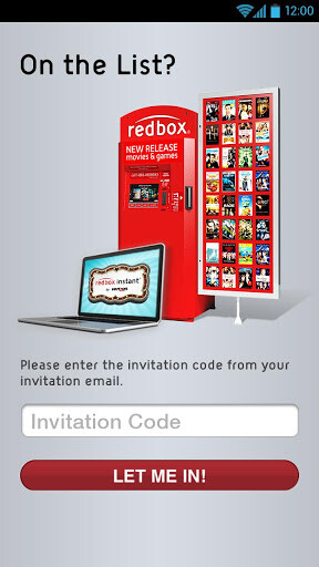 Punch in your invitation code to access the Redbox Instant Beta