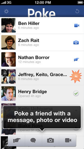 """Facebook takes on Snapchat in """"disposable chat"""" with Poke for iPhone"""
