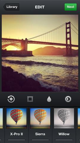 Screenshots from Instagram