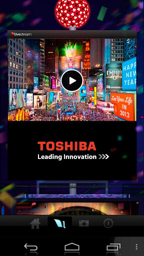 Screenshots from the 2013 Times Square Ball Drop app