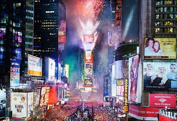 Times Square on a New Year's Eve