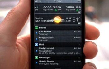 Apple's Notification Center on the Apple iPhone