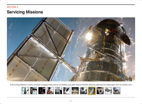 Screenshots from the eBook Hubble Space Telescope: Discoveries