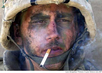 This famous picture was taken during the Battle of Fallujah in Iraq
