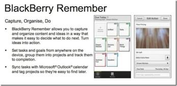 BlackBerry Remember is like Task for BlackBerry 10