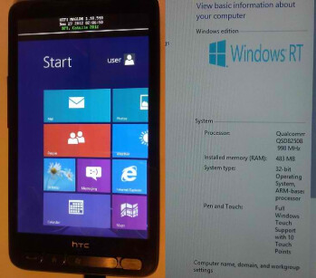 Hackers fit HTC HD2 with Windows RT for some reason