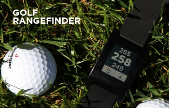 Pebble works with a number of apps, including a rangefinder for Golf
