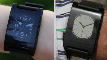 The Pebble iOS and Android app allows you to change the design of the watchface