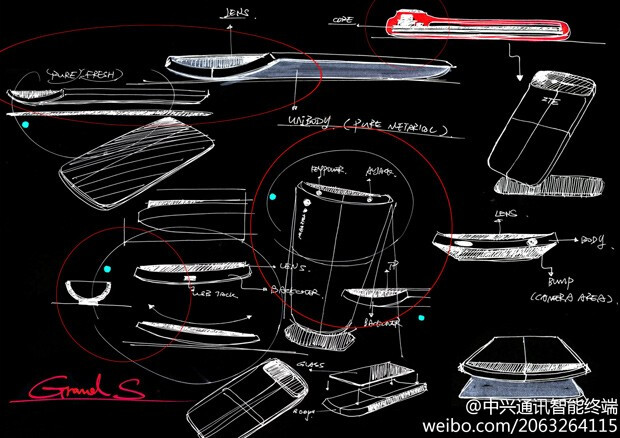 Remember this sketch of the ZTE Grand S? - ZTE Grand S to be thinner than expected and will include a 13MP camera