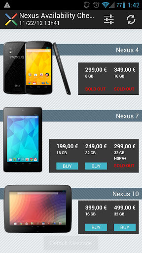 Get the jump on others with the Nexus Availability Checker - Get notified whenever any of the Google Nexus devices are back in stock