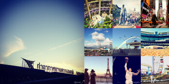 Pictures of the Instagram Top Ten most photographed sites for 2012