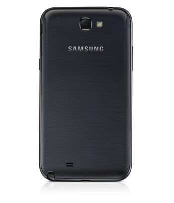 The Samsung GALAXY Note II in black