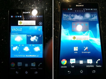 Image alleged to be that of the Sony Xperia Z