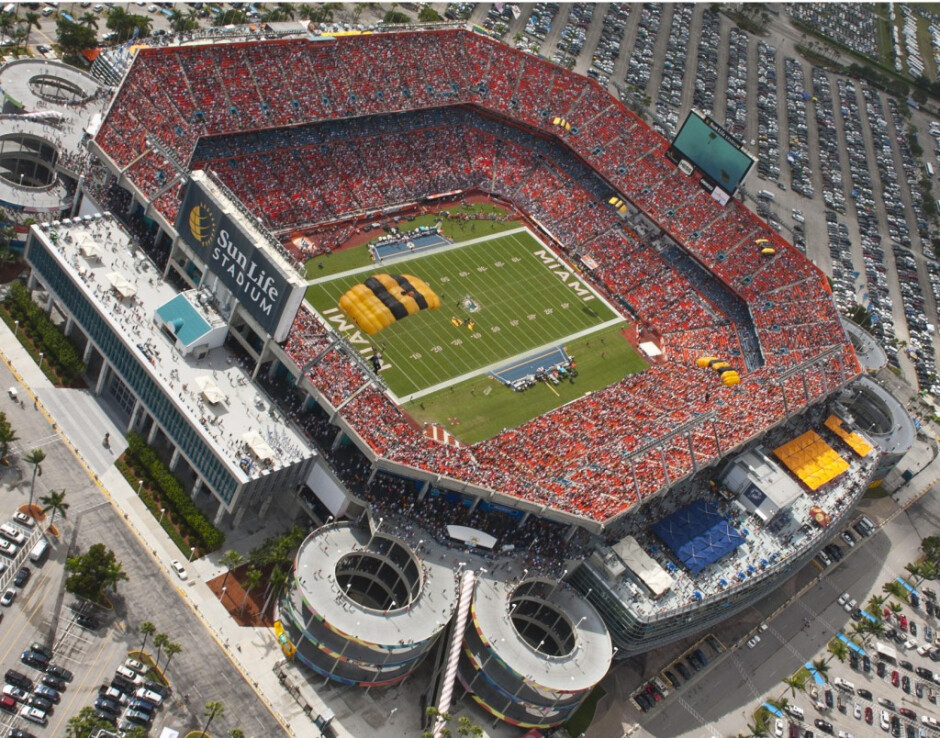 AT&T has upgraded its network inside and outside Miami's Sun Life Stadium - AT&T upgrades its network in Miami for two bowl games