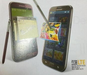 The Samsung GALAXY Note II in Ruby Wine and Amber Brown