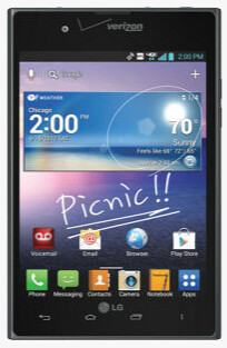 LG Intuition, U.S. version of the LG Optimus Vu