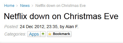 The way it was, December 24th - Deleted data caused last week's Netflix outage