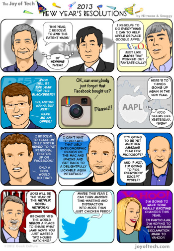 New Year's humor: Big tech resolutions