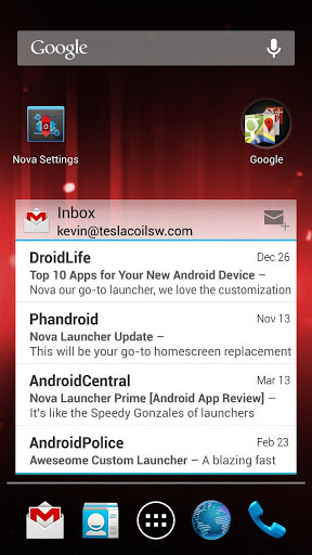 Nova Launcher updated to version 2 0, resizable icons and