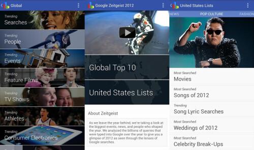 Google Zeitgeist 2012 - Android - Free