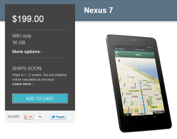 The Google Nexus 7 is back on sale at the Google Play Store
