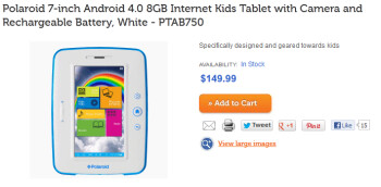 The Polaroid 7 inch Android tablet for kids