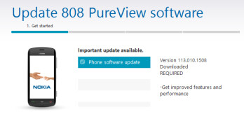 The Nokia 808 PureView has received a firmware update