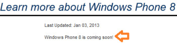 Sprint says Windows Phone 8 is coming soon