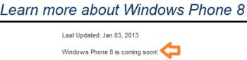 Sprint says Windows Phone 8 is coming soon