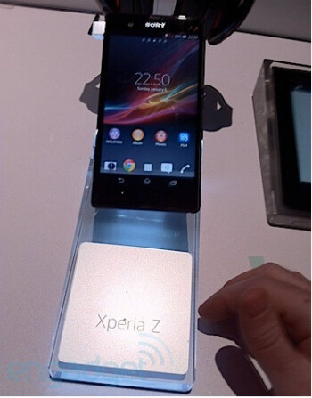 The Sony Xperia Z gets set up for Tuesday's CES opening