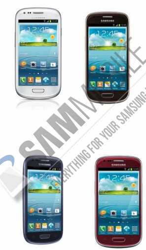 The complete set of colors expected to be soon available for the Samsung Galaxy S III mini