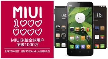 MIUI Android custom ROM hits 10 million users